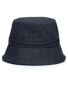 Dark Denim Bucket Hat Back
