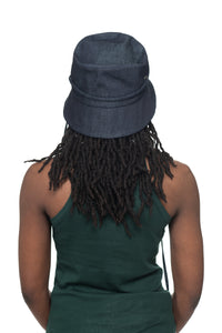 Dark Denim Bucket Hat Back 1
