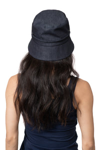 Dark Denim Bucket Hat Side Back 2