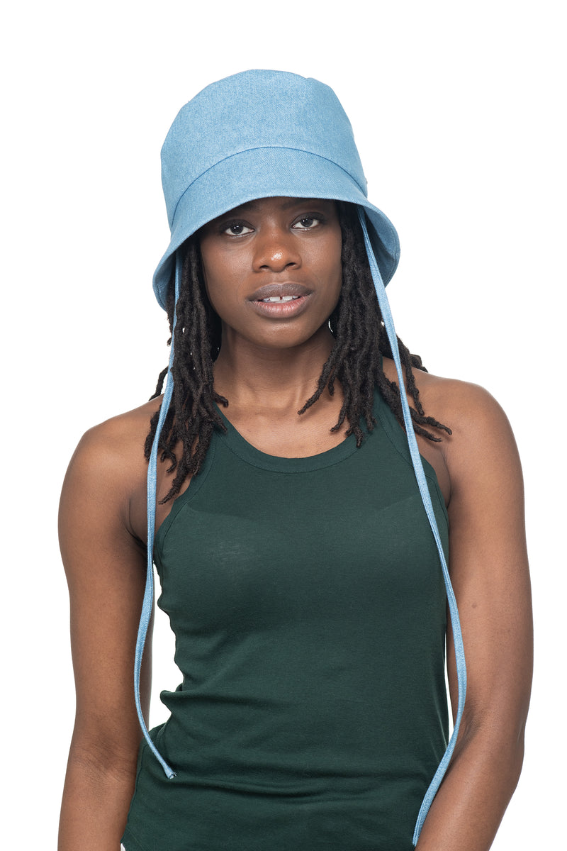Light Denim Bucket Hat Front 2
