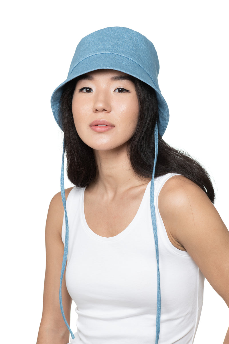 Light Denim Bucket Hat Front 1