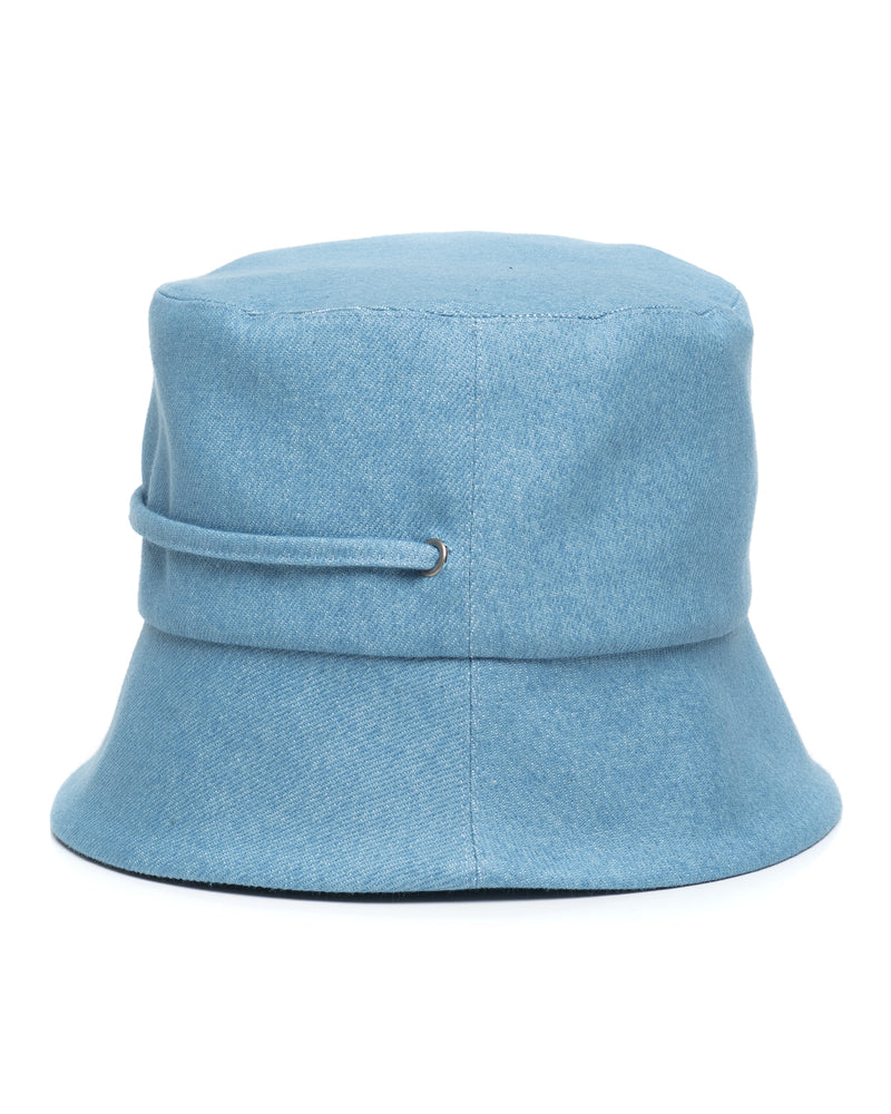 Light Denim Bucket Hat Side
