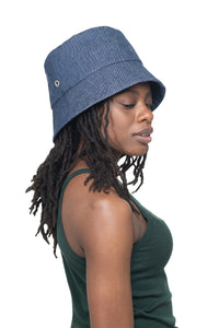 Mid Denim Bucket Hat Side 1