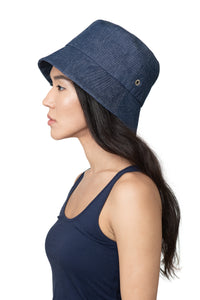 Mid Denim Bucket Hat Side 2