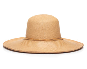 Natural Panama Straw Hat Back