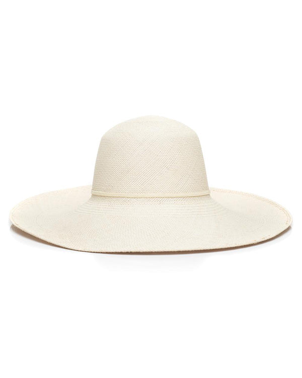 Cream Panama Straw Hat Front
