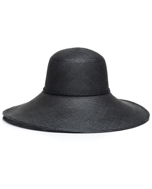 Black Panama Straw Hat Front