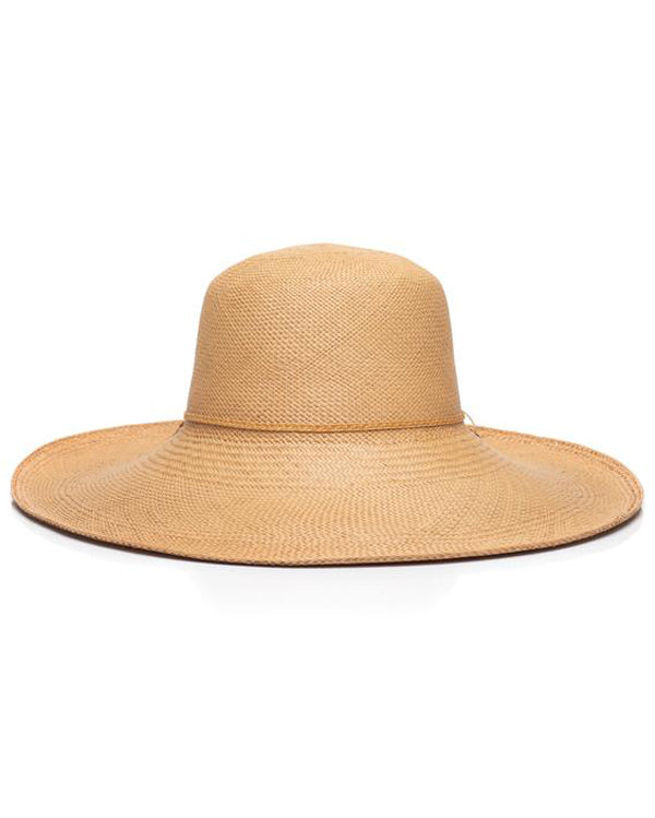 Natural Panama Straw Hat Front