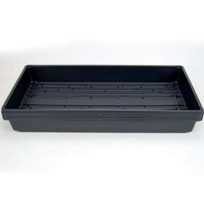 "5 Plant Growing Trays (WITH Drain Holes) - 20"" x 10"" - Perfect Garden Seed Starter Grow Trays: For Seedlings, Indoor Gardening, Growing Microgreens, Wheatgrass & More - Soil or Hydroponic"