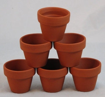 "10 - 2.75"" x 2.75 Clay Pots - Great for Plants and Crafts - 9GreenBox"