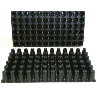"9GreenBox - 10 Plastic Seed Starting Trays - Each Tray Has 72 Cells ~ Cells Are 1.44 "" Round X 2.38 "" Deep. Great Propagation Trays - 9GreenBox"