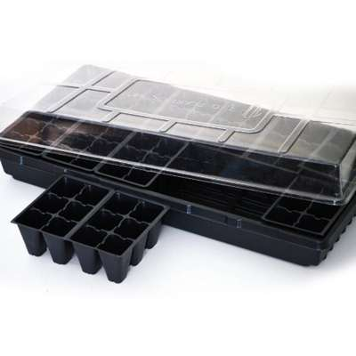 Seed Starter Germination Station Complete Kit w/ Dome,  72 Cell Tray and Growing Tray - 9GreenBox