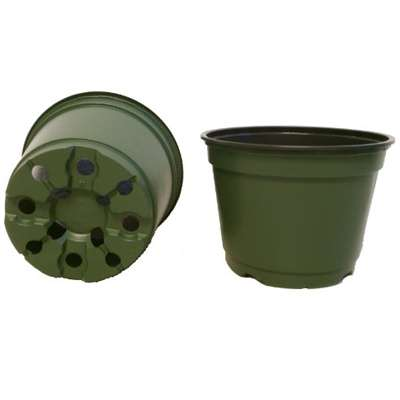 100 NEW 6 Inch TEKU Plastic Nursery Pots - Azalea Style ~ Pots ARE 6 Inch Round At the Top and 4.25 Inch Deep. - 9GreenBox