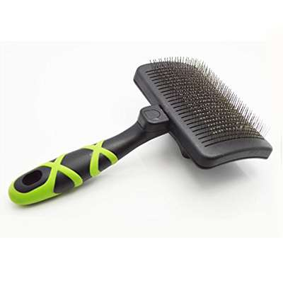 HelloPet USA - Large Self-Cleaning Slicker Brush - 9GreenBox