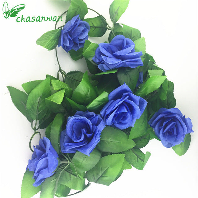 2.5m Artificial Roses Silk Flowers Garland - 9GreenBox