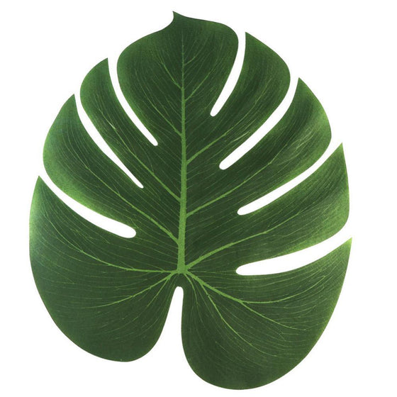 12pcs 35x29cm Artificial Tropical Palm Leaves - 9GreenBox