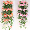 Home Decoration Wedding Silk Rose 2.4m Hanging Flower Garland - 9GreenBox