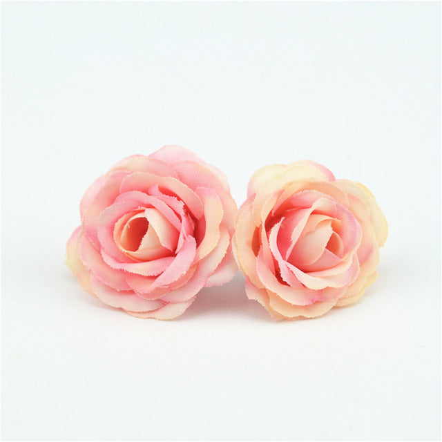 10pcs 3cm Mini Rose Cloth Artificial Flower - 9GreenBox