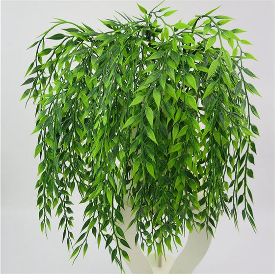 2pcs 54cm Green Hanging Artificial Plant - 9GreenBox