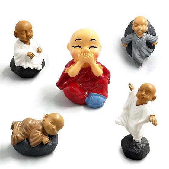 Chinese feng shui wealth Monks miniature - 9GreenBox