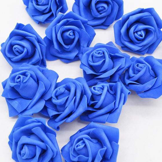 20Pcs/lot Artificial Blue Foam Rose Flower Wreath - 9GreenBox
