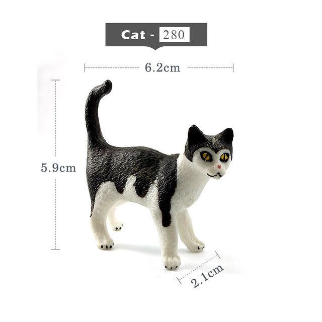 Mini Simulation cat miniature figurine - 9GreenBox