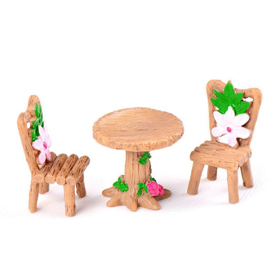 3pcs/Set Table Chair Resin Craft - 9GreenBox