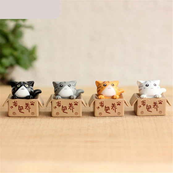 4 pcs Cute Cat Mini Fairy Resin - 9GreenBox