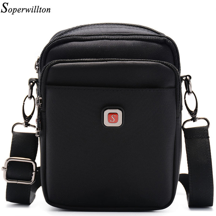 Soperwillton 2017 Material Upgrades Men Bag Shoulder & Crossbody Classic Bags Oxford Waterproof Zipper Casual Bag For Man #1054