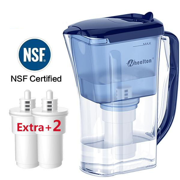 4.5 Cup Water Purifier Pitcher W/ 2 extra filter cartridges BPA free certified by NSF