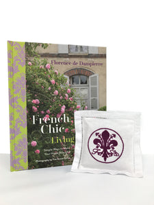 """French Chic Living"" Book with Lavender Pillow Sachet"
