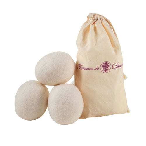 Pure Virgin Wool Extra-Large Dryer Eggs Set of 3 with Storage Bag