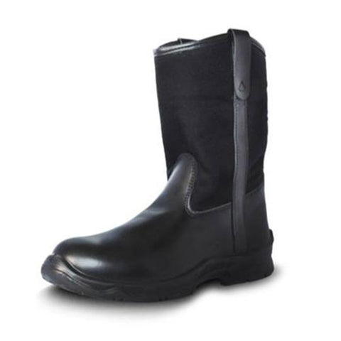 Black Wellington Composite Toe EH Work Boot