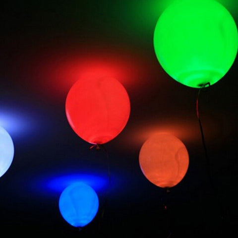 15pcs LED Balloon Light Ball 12inch Latex Helium Balloons