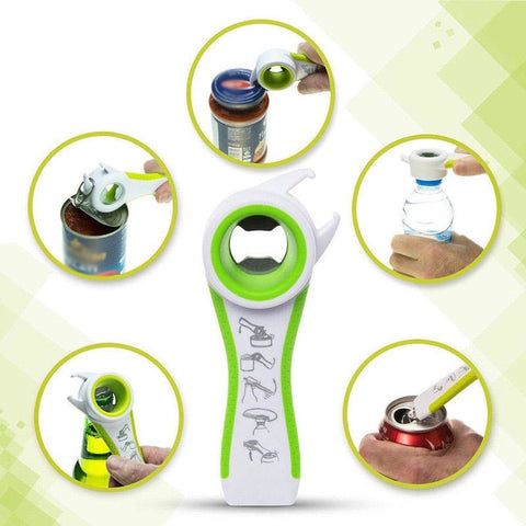 5 In 1 Hot Sale Multi-fuctional All In One Opener Bottle Opener Jar Can Kitchen Manual Tools Accessories Multifunction