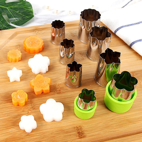 8pcs/Set Stainless Steel Puzzle Kitchen Tools Cutter