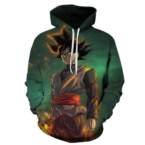 Anime Dragon Ball Z Pocket Hooded Sweatshirts Kid