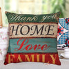 Image of Mediterranean Style Letter Cushion Cover