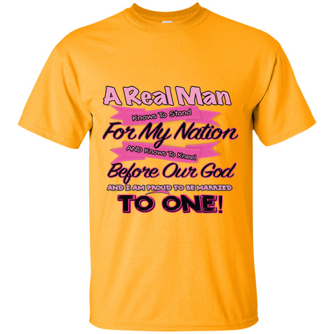 NFL A Real Man Stands - Womens Custom Shirt