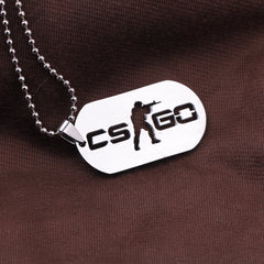Games CS GO Dog Tag Necklace
