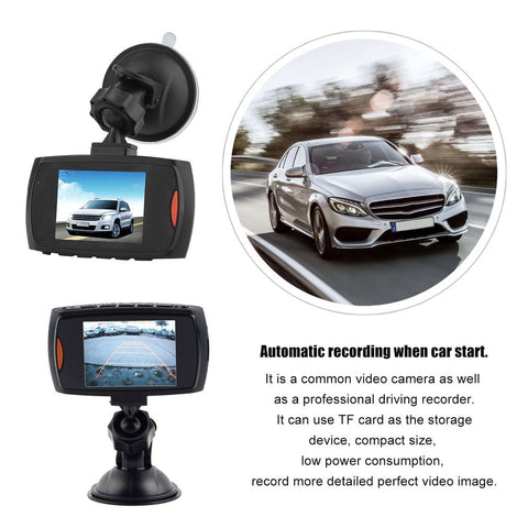 HD 720P Car DVR Camera Dash Cam Video 2.4inch LCD LCD Display Night Vision Vehicle Camera Recorder