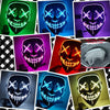 Image of Halloween Mask LED Light Up Party Masks Costume Glow In Dark
