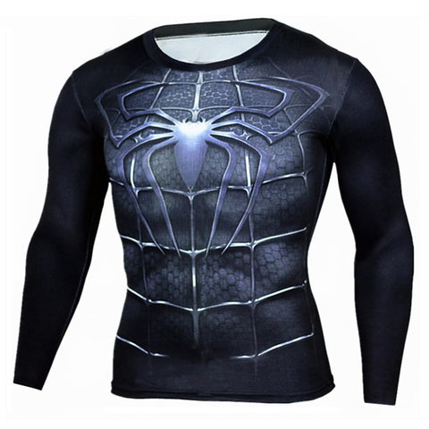 Compression Crossfit Shirt Long Sleeve Men's