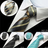 Image of 8cm Woven Stripe Silk Tie For Men