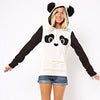 Image of High-Quality Women's Winter Warm Panda Fleece Pullover Jumper Hooded Sweater