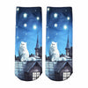 Image of Socks Cute Animal Cat Cartoon Character Dollar Bill Skull Foot Funny Socks Women