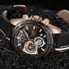 Image of LIGE Leather Military Waterproof Men's Luxury Quartz Watch