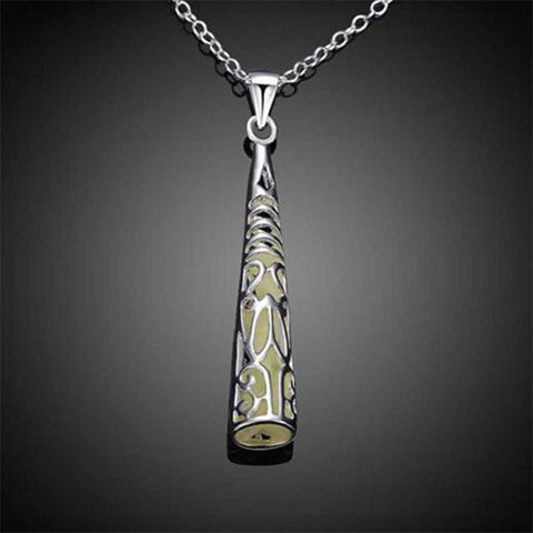 Glow In Dark Hollow Out Necklace