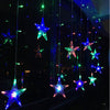Image of LED Fairy Star Curtain String Light