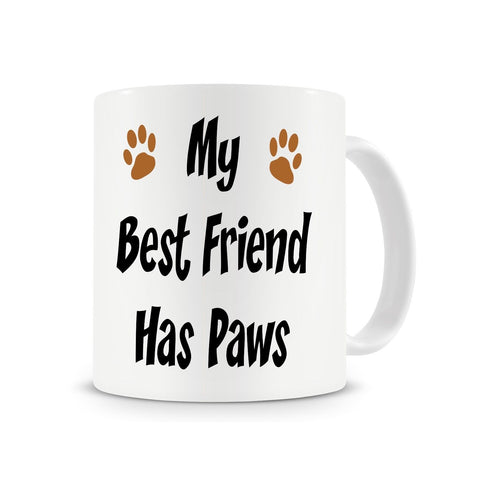 My Best Friend Has Paws, Dog Gift Coffee Mug with Stirring Spoon